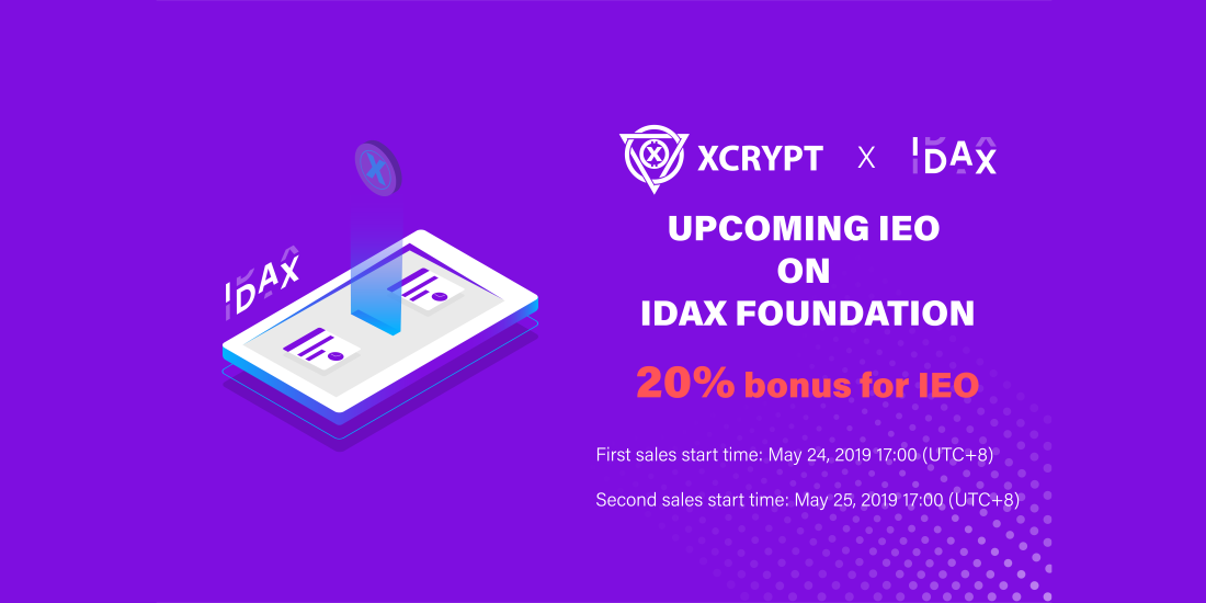 XCRYPT x IDAX IEO portada 1100x550 - XCrypt: An exciting future-proof crypto exchange taking the IEO route